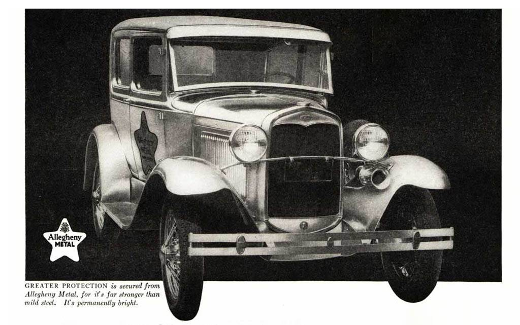 Ford Model A stainless steel